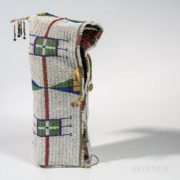 Lakota Beaded Hide Cradle