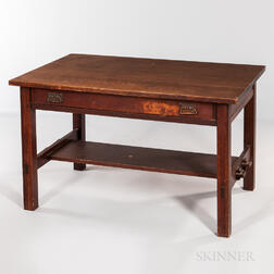 L. & J.G. Stickley, The Onondaga Shops, Keyed-shelf Desk