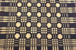 Wool and Cotton Summer and Winter Coverlet
