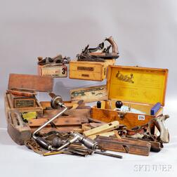 Collection of Woodworking Hand Planes and Parts