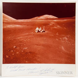 Apollo 17, Oversized Photograph Signed by Harrison Schmitt.