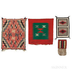 Four Small Navajo Wool Textiles