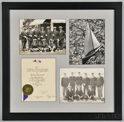 Group of New York Yacht Club and 1980 America's Cup Items Framed Together