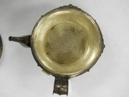 Three Silver/Copper Handled and Covered Ewers