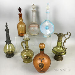 Seven Glass Decanters