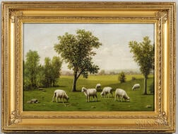 Barton Stone Hays (Indiana, Ohio, Minnesota, 1826-1914)      Sheep Grazing