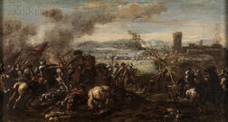 Continental School, 17th/18th Century      Battle Scene