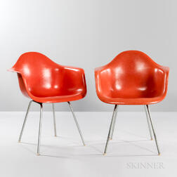 Two Ray and Charles Eames for Herman Miller Shell Armchairs