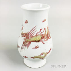 Small White-glazed Hu  -form Vase