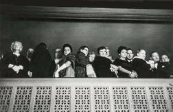 Robert Frank (Swiss, b. 1924)      Theater-goers in a Balcony