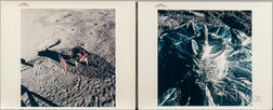 Apollo 14, The Third United States Flag to Be Deployed on the Lunar Surface and A Close-up View of the Passive Seismic Experiment...
