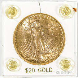 1908 $20 St. Gaudens Double Eagle Gold Coin