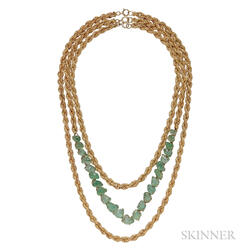 14kt Gold and Emerald Convertible Suite