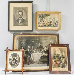 Five Framed Engravings