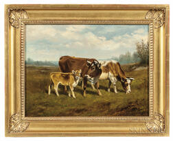 Arthur Fitzwilliam Tait (American, 1819-1905)      Cows in a Landscape