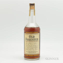 Old Forester 4 Years Old 1946, 1 4/5 quart bottle
