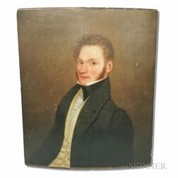 American School, 19th Century       Portrait of a Red-headed Gentleman