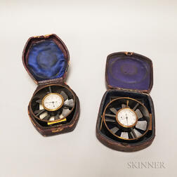 Two Cased Pocket Anemometers