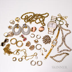 Group of Gold-tone Costume Jewelry