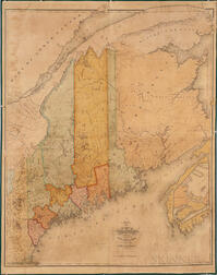 Map of the State of Maine with the Province of New Brunswick by Moses Greenleaf.