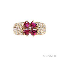 18kt Gold, Ruby, and Diamond Ring, Van Cleef & Arpels