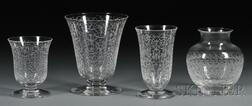 Four Baccarat Crystal Vases