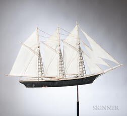 Frank Adams Schooner Weathervane