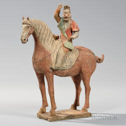 Pottery Horse and Foreign Rider