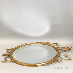 Pair of Neoclassical-style Carved and Gilt-gesso Mirrors