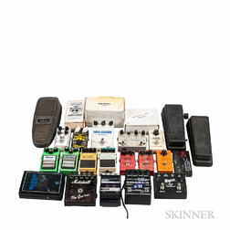 Collection of Guitar Effects Pedals