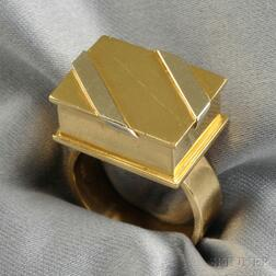 """18kt Bicolor Gold """"Candy Box"""" Ring, Noma Copley"""