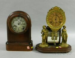 Two Eight-Day Mantel Clocks by Ansonia and Seth Thomas