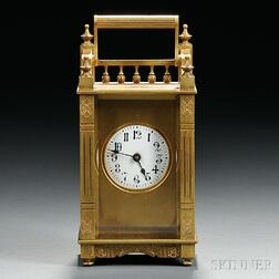 "Boston Clock Co. ""Queen Anne"" Carriage Timepiece"