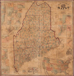 Map of the State of Maine from Surveys Made by H.F. Walling & J. Chace Jr.