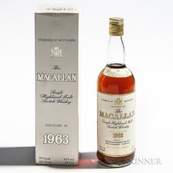 Macallan 1963, 1 750ml bottle (oc)