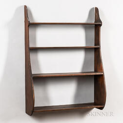 Pine Whale-end Wall Shelf