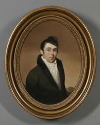 Attributed to Joseph Wood, (District of Columbia, 1778-1852)      Portrait of a Young Man.