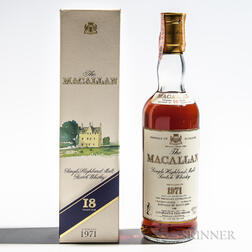 Macallan 18 Years Old 1971, 1 70cl bottle (oc)