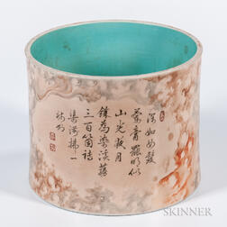 Enameled Brush Pot