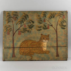Painted Fireboard with Cat by David Bradstreet Wiggins