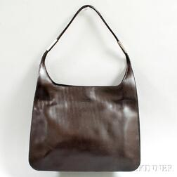Gucci Chocolate Brown Leather Tote Bag