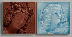 Two Trent Tile Company Art Pottery Tiles