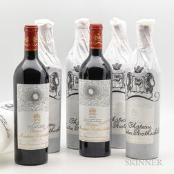 Chateau Mouton Rothschild 2002, 6 bottles
