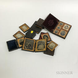 Group of Daguerreotype and Ambrotypes in Thermoplastic Cases