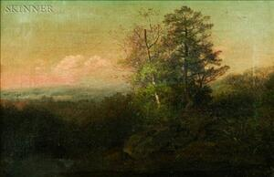 Attributed to John White Allen Scott (American, 1815-1907)    Landscape with Trees