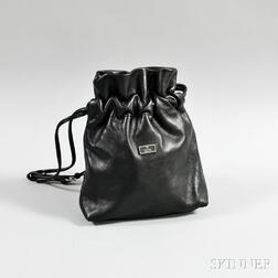 Gucci Black Leather Bucket Bag