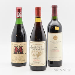 Mixed California Wines, 3 bottles