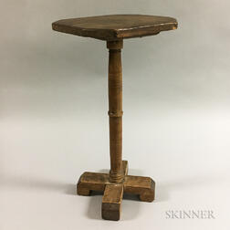 Jacobean-style Maple and Pine Diminutive Candlestand