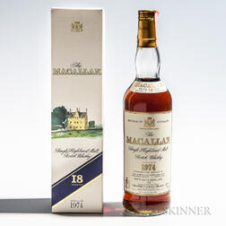 Macallan 18 Years Old 1974, 1 70cl bottle (oc)