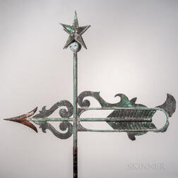 Sheet Copper Bannerette Weathervane